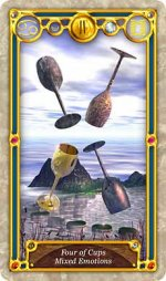 Quest Tarot 4 of Cups